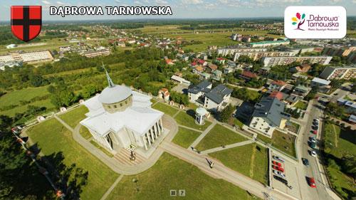 Dąbrowa Tarnowska strona północno zachodnia Wirtualne spracery 3D po Dąbrowie Tarnowskiej