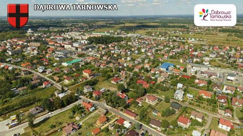 Dąbrowa Tarnowska strona południowo wschodnia Wirtualne spracery 3D po Dąbrowie Tarnowskiej