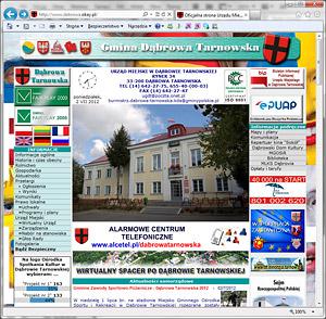 POPRZEDNIA STRONA www URZĘDU MIEJSKIEGO W DĄBROWIE TARNOWSKIEJ