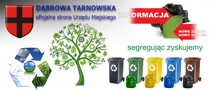header odpadyGDT Zawiadomienie, że od dnia 1 kwietnia 2020 r. ulega zmianie wysokość opłaty za gospodarowanie odpadami komunalnymi na terenie Gminy Dąbrowa Tarnowska