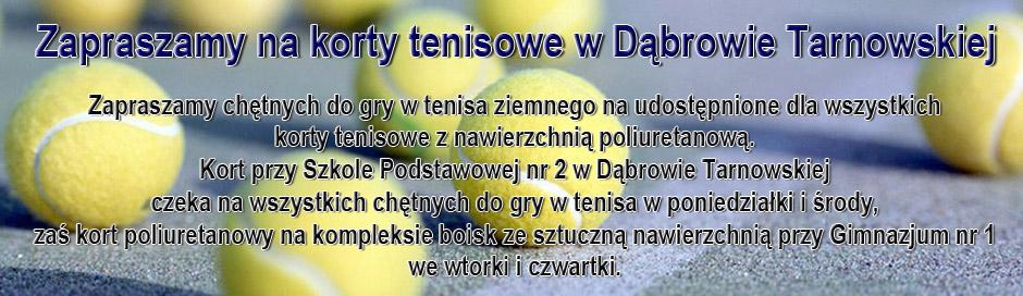 Tenis ziemny w Dąbrowie Tarnowskiej
