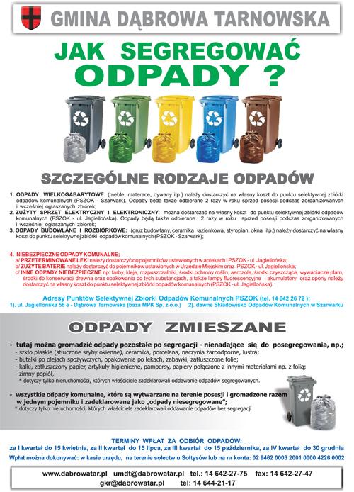 Segregacja odpadów 2017 ulotka 1 ULOTKI