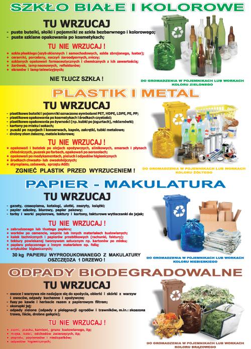Segregacja odpadów 2017 ulotka 2 ULOTKI