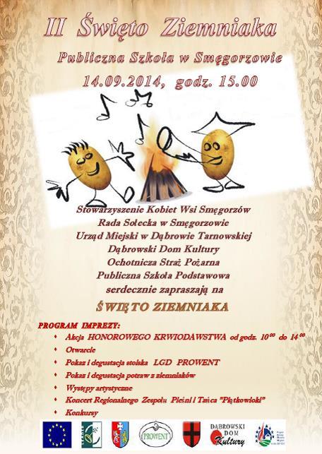 Ii święto Ziemniaka W Smęgorzowie Zapraszamy Dąbrowa