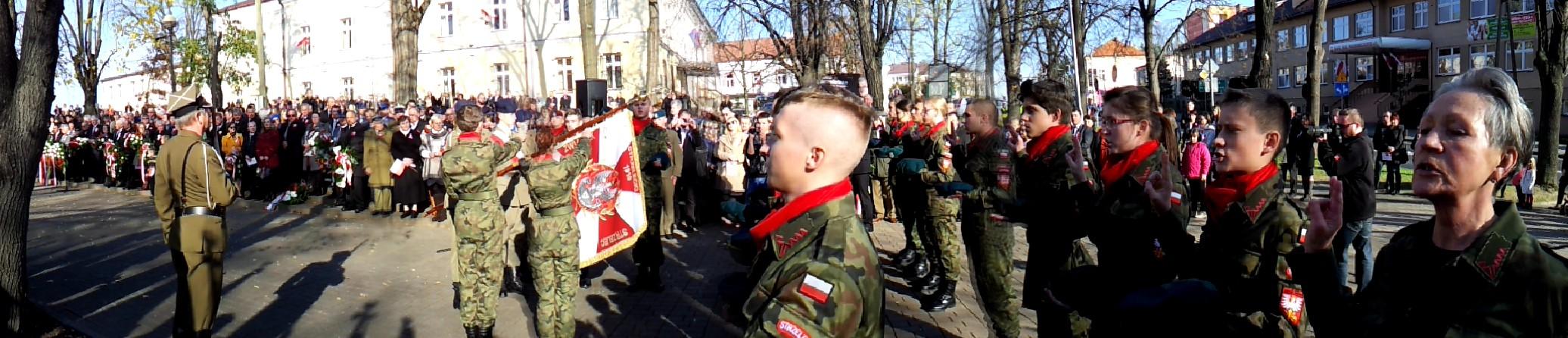 11listopada2014 DabrowaTarnowska 2 Dąbrowskie obchody 96 Rocznicy Odzyskania Niepodległości przez Polskę