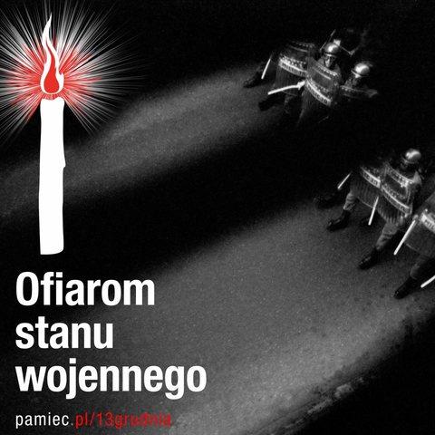 Zapal Światło Wolności 38. rocznica wprowadzenia stanu wojennego   zapal światełko wolności