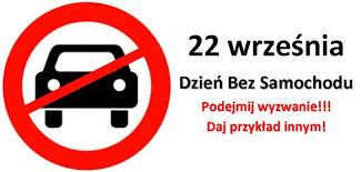"""Dzien bez samochodu 22 września """"Dniem bez Samochodu"""""""