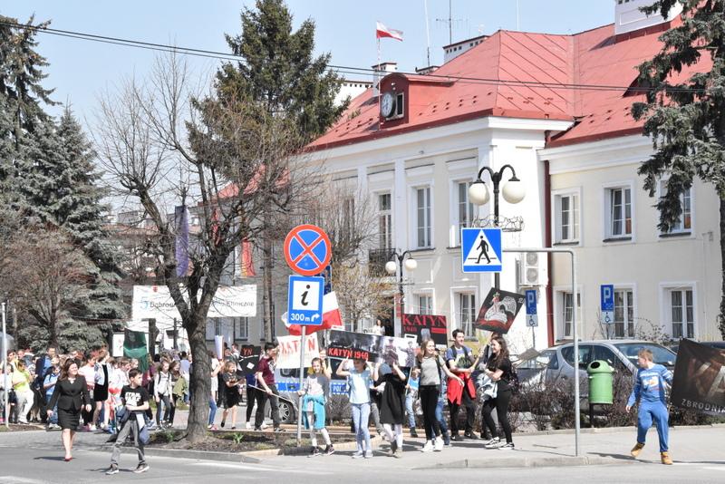 DSC 0003 Marsz pamięci i Apel Katyński w Dąbrowie Tarnowskiej