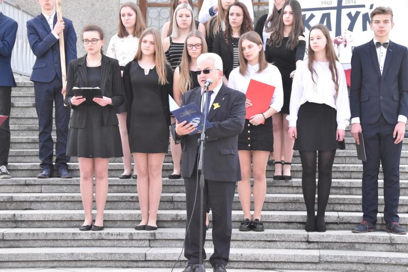 DSC 0057 Marsz pamięci i Apel Katyński w Dąbrowie Tarnowskiej