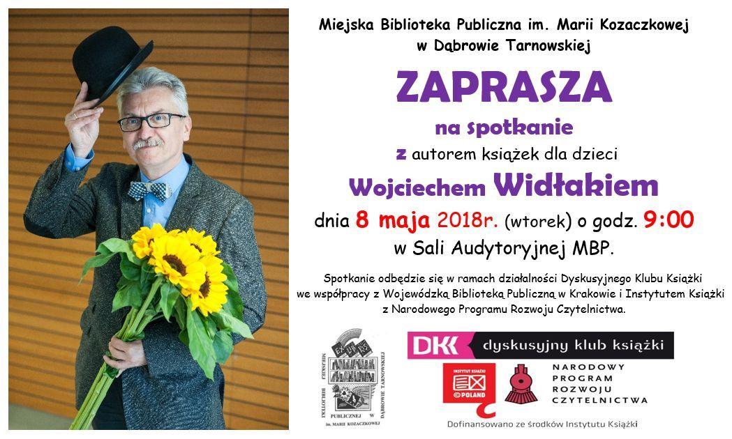 zaproszenie W. Widłak Zaproszenie na spotkanie autorskie z Wojciechem Widłakiem w MBP