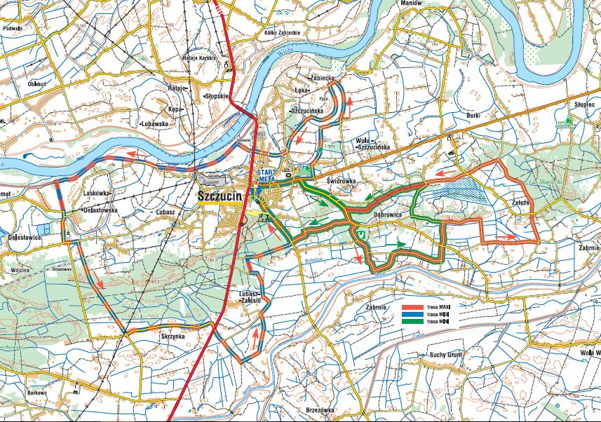 Mapa Szczucin 04062018 Rodzinny Rajd Rowerowy Szczucin 17 06 2018 Rodzinny Rajd Rowerowy w Szczucinie