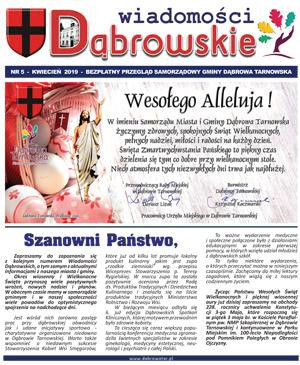 Wiadomości Dąbrowskie 5 2019 <cent />WIADOMOŚCI DĄBROWSKIE</center>