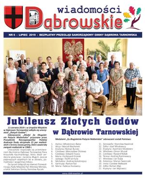 Wiadomości Dąbrowskie 6 2019lipiec <cent />WIADOMOŚCI DĄBROWSKIE</center>
