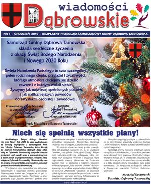 Wiadomości Dąbrowskie 7 12 2019 <cent />WIADOMOŚCI DĄBROWSKIE</center>