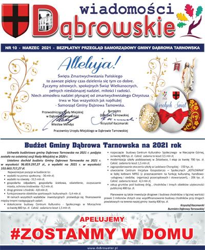Wiadomości Dąbrowskie marzec 2021 <cent />WIADOMOŚCI DĄBROWSKIE</center>