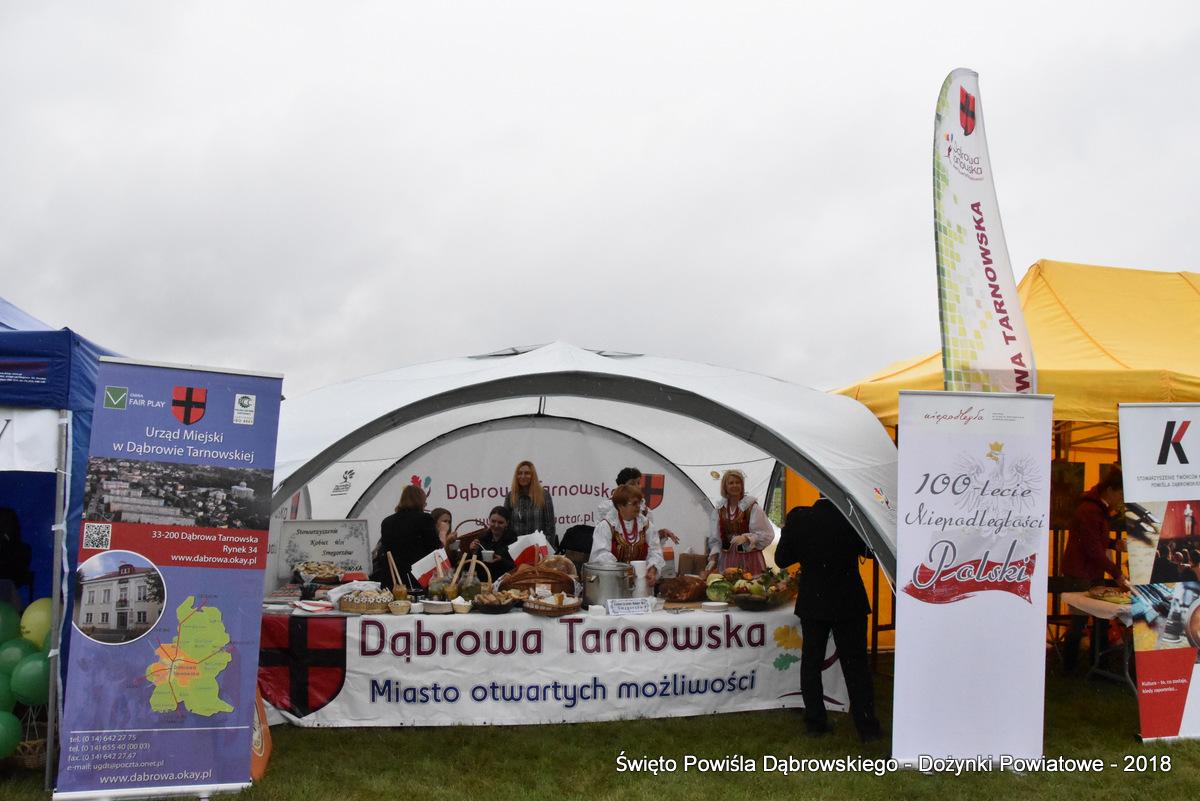 Dozynki Powiatowe 2018 www dabrowatar pl 11 Udział Gminy Dąbrowa Tarnowska w Święcie Powiśla Dąbrowskiego 2018 w Ujściu Jezuickim