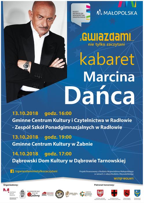 Kabaret zaproszenie1 Kabaret Marcina Dańca Z gwiazdami... nie tylko zaczytani