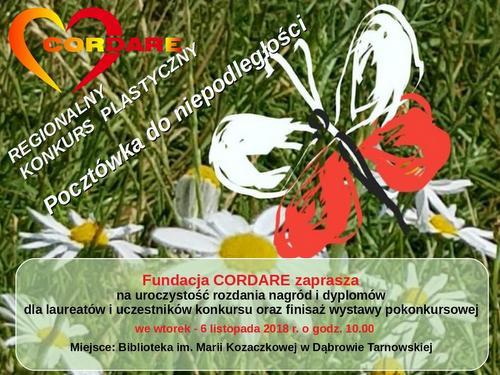 pocztowka rozdanie nagród Rozdanie nagród konkursowych Fundacji Cordare