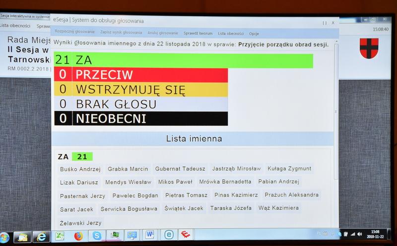 DSC 0494 Nadzwyczajna sesja Rady Miejskiej w Dąbrowie Tarnowskiej