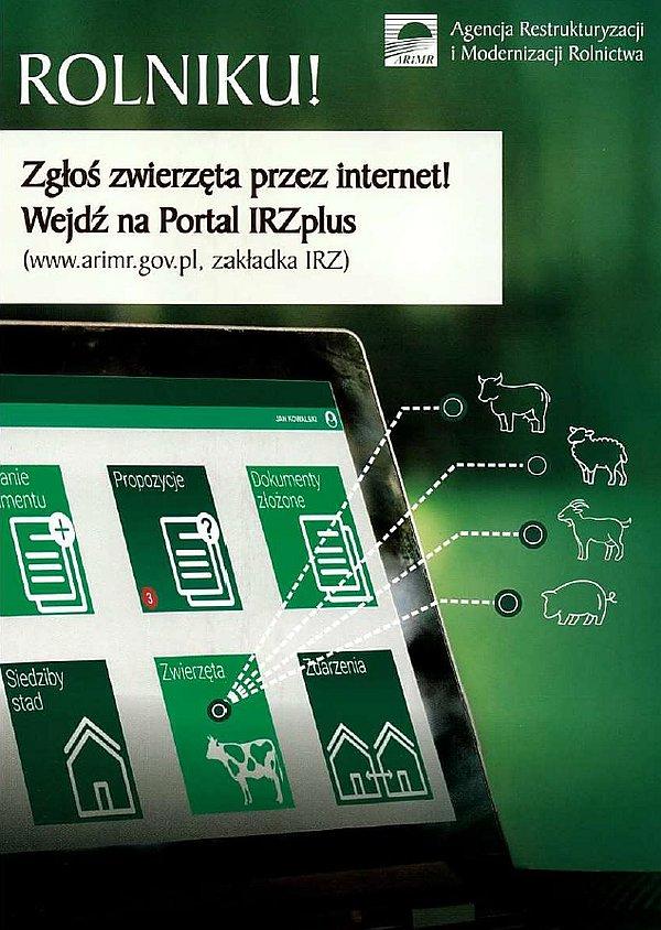 irzplus ulotka Aplikacja i portal IRZplus   zgłaszanie zdarzeń przez Internet