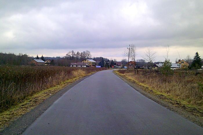 DSCF0002 Remont  drogi gminnej  w Szarwarku, od drogi powiatowej do stadionu