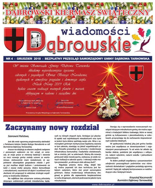 Wiadomości Dąbrowskie 4 2018 <cent />WIADOMOŚCI DĄBROWSKIE</center>