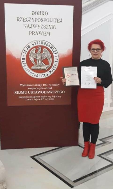 PHOTO 2019 02 12 21 16 30 Zespół Szkolno Przedszkolny w Żelazówce znalazł się wśród zdobywców certyfikatu Szkoły Niepodległej jako jedyna szkoła z powiatu dąbrowskiego