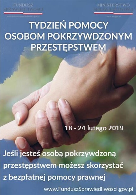 TPOP FSpr 2019 Tydzień Pomocy Osobom Pokrzywdzonym Przestępstwem