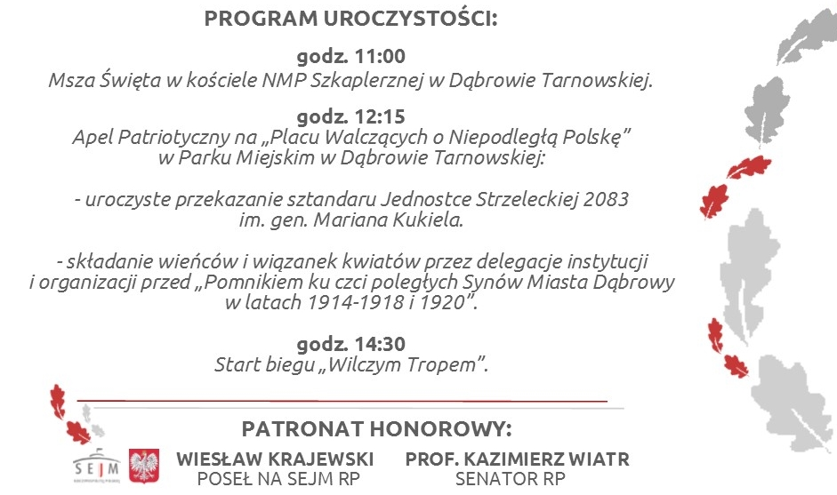 zaproszenie 3 03 2019 3 marca w Dąbrowie Tarnowskiej odbędą się uroczystości patriotyczne ku czci Żołnierzy Wyklętych. Serdecznie zapraszamy!
