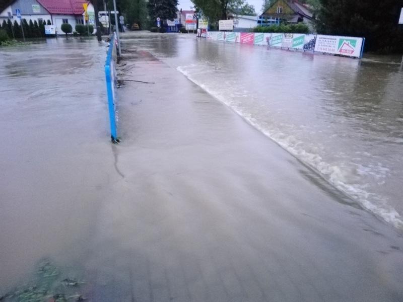 IMG 20190522 042529 Sytuacja powodziowa na terenie gminy Dąbrowa Tarnowska z dnia 22 maja br. godz. 8:00