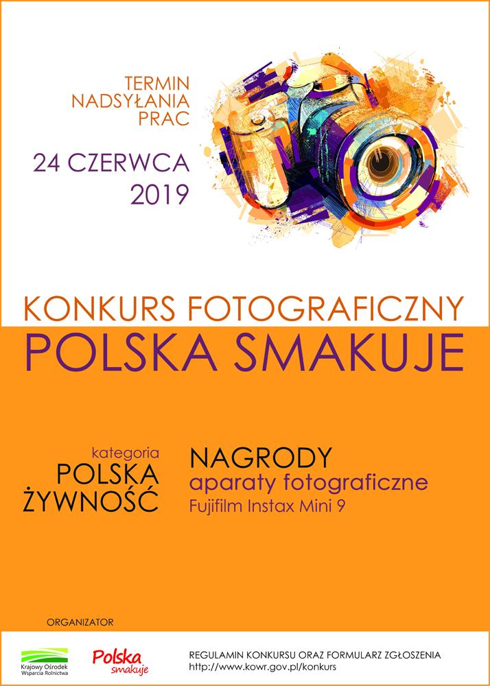 """Plakat konkurs foto Polska smakuje Konkurs fotograficzny """"Polska smakuje"""""""