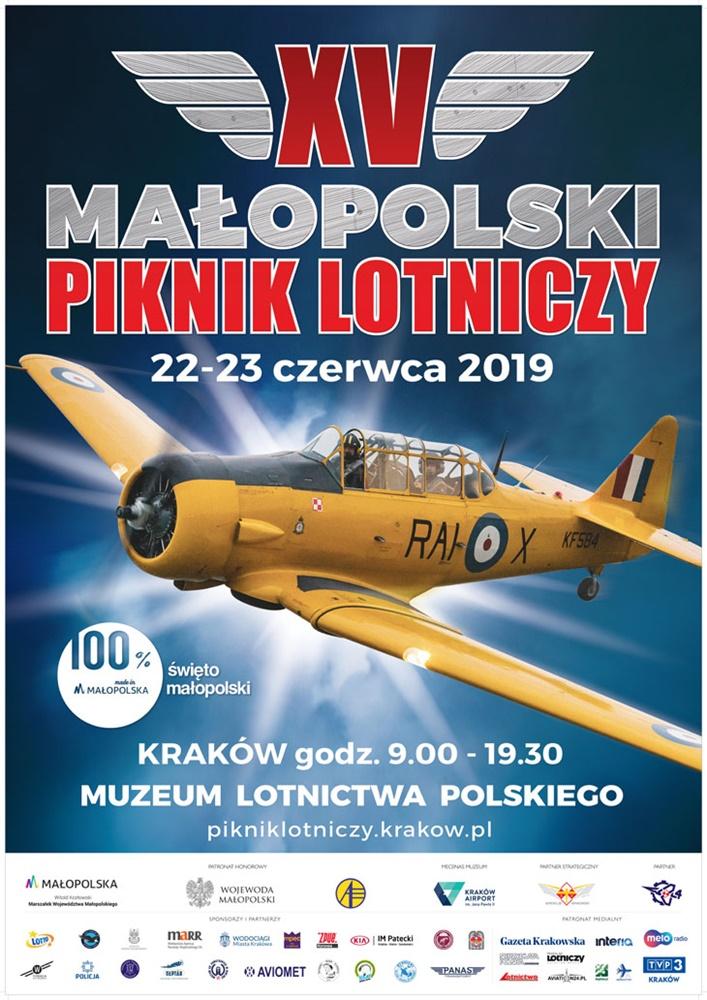 plakat 730 Zapraszamy na XV Małopolski Piknik Lotniczy