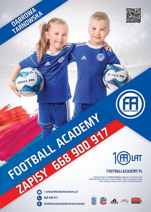 Dołącz do Football Academy Dąbrowa Tarnowska Dołącz do Football Academy Dąbrowa Tarnowska!