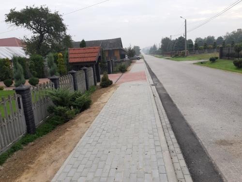 %name Zakończenie I etapu budowy chodnika w Gruszowie Wielkim