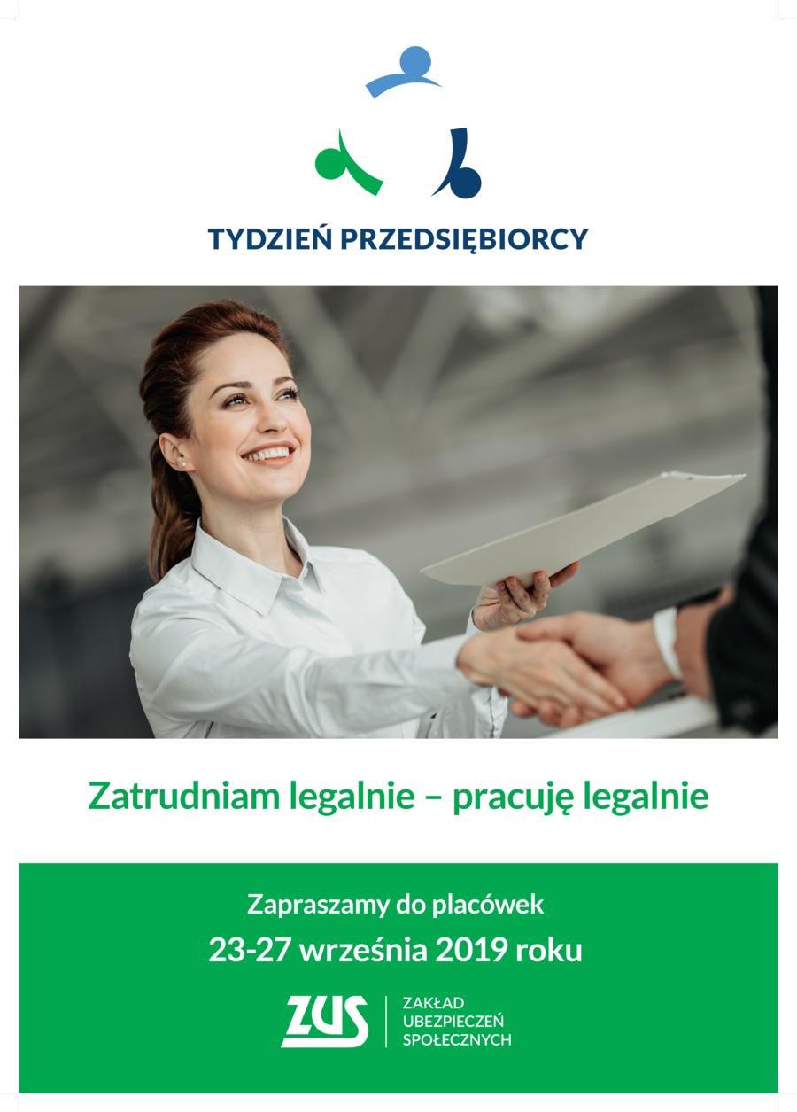 plakat A3 DRUK1 Tydzień Przedsiębiorcy z Zakładem Ubezpieczeń Społecznych Oddział w Tarnowie