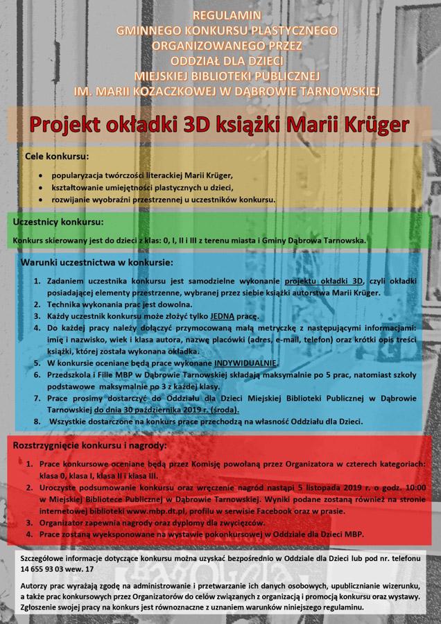 regulamin Gminny Konkurs Plastyczny w dąbrowskiej bibliotece