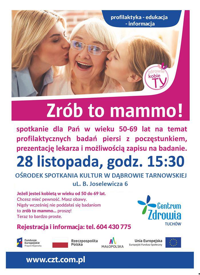 Zrób to mamao DT2019 Spotkanie edukacyjno informacyjne Zrób to mammo!
