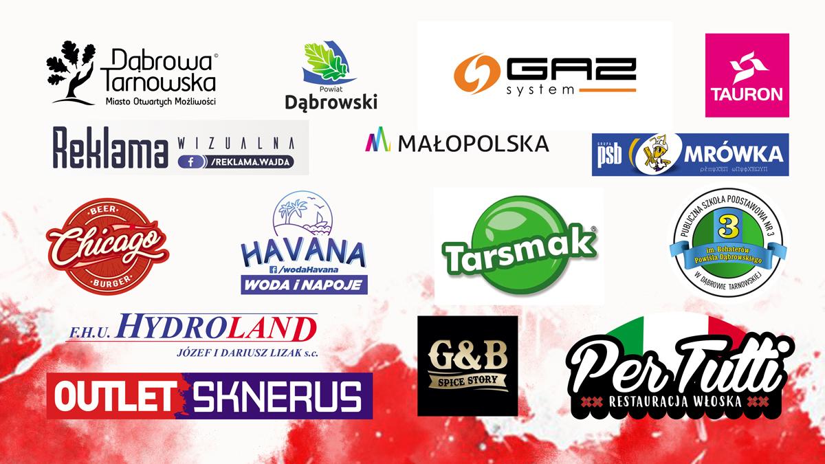sponsorzy BN RT2019 Dąbrowski Bieg Niepodległości pobiegł już po raz trzeci