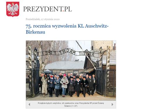 75 rocznica wyzwolenia KL Auschwitz prezydent pl 75. rocznica wyzwolenia niemieckiego nazistowskiego obozu koncentracyjnego Auschwitz Birkenau