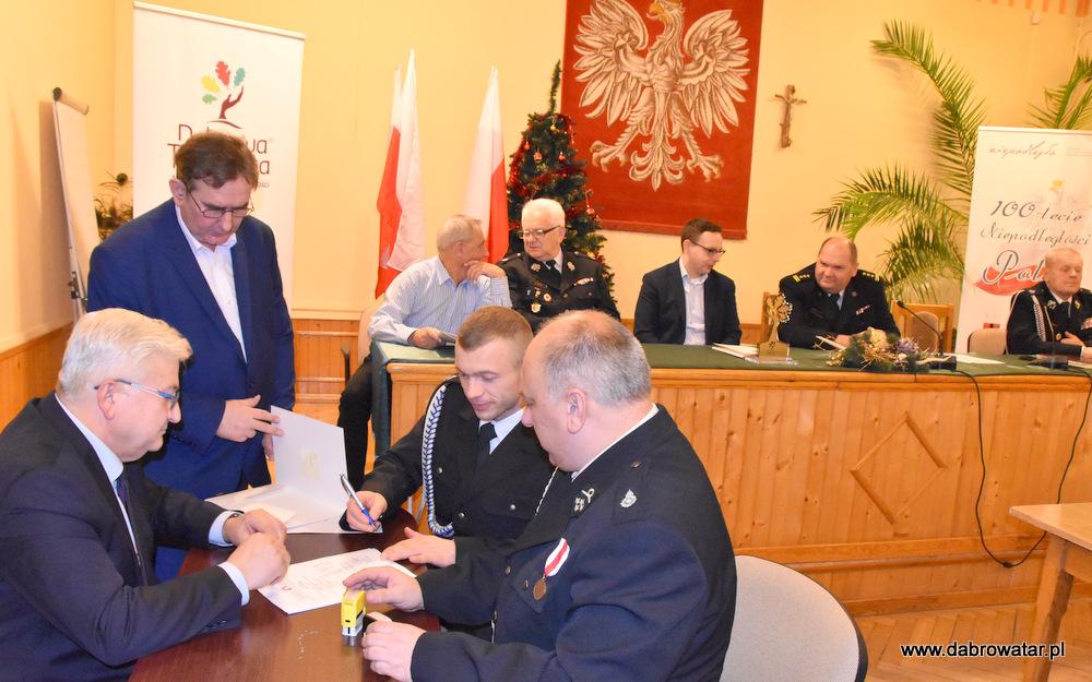 Przekazanie sprzętu dla OSP MS FS Gmina Dąbrowa Tarnowska 2020 34 Uroczyste przekazanie sprzętu jednostkom OSP z Gminy Dąbrowa Tarnowska w ramach Funduszu Sprawiedliwości Ministerstwa Sprawiedliwości