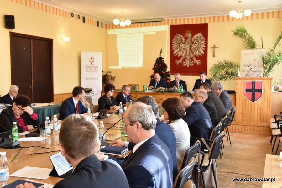 Sesja RMDT 30 12 2019 3 Gmina Dąbrowa Tarnowska z nowym budżetem na 2020 r.
