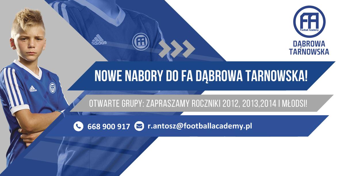 facebook post nabory 2020 Dąbrowa Tarnowska Dołącz do Football Academy !