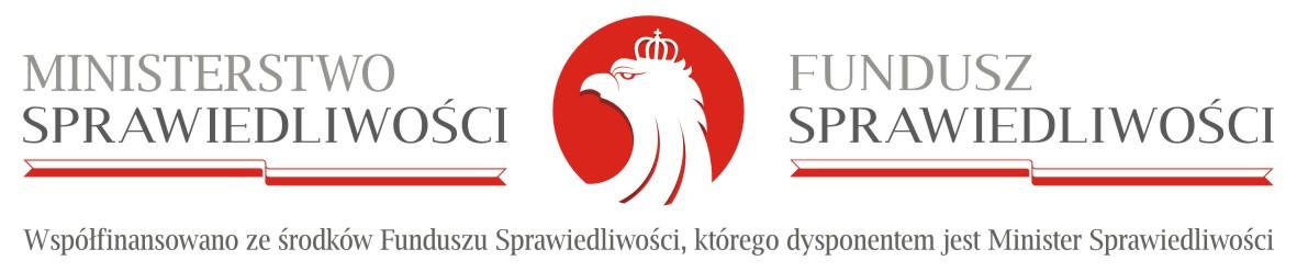 logo ministerstwo sprawiedliwosci fundusz sprawiedliwości 2019 2020 Uroczyste przekazanie sprzętu jednostkom OSP z Gminy Dąbrowa Tarnowska w ramach Funduszu Sprawiedliwości Ministerstwa Sprawiedliwości