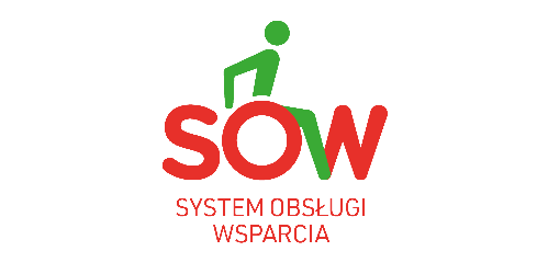 main logo SOW System Obsługi Wsparcia finansowanego ze środków PFRON  w całej Małopolsce!