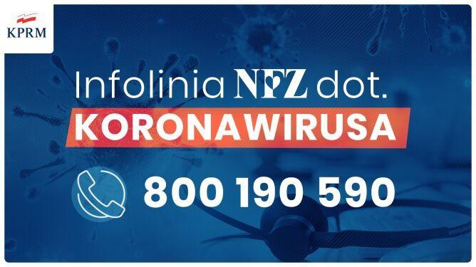 Infolinia <font color=r />Co musisz wiedzieć o koronawirusie SARS Cov 2<br>oraz<br>Informacje Głównego Inspektora Sanitarnego dla osób powracających z północnych Włoch, Chin, Korei Południowej, Iranu, Japonii, Tajlandii, Wietnamu, Singapuru i Tajwanu
