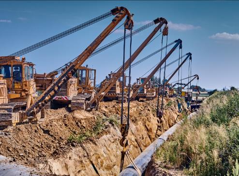 rury GAS SYSTEM 2 Budowa strategicznego gazociągu przesyłowego GAZ SYSTEM na terenie gminy Dąbrowa Tarnowska