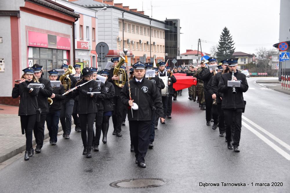 01 NDPŻW 1marca2020 6 Udział Gminy Dąbrowa Tarnowska w Powiatowych Obchodach Dnia Pamięci Żołnierzy Wyklętych