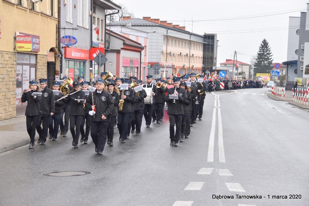 02 NDPŻW 1marca2020 7 Udział Gminy Dąbrowa Tarnowska w Powiatowych Obchodach Dnia Pamięci Żołnierzy Wyklętych