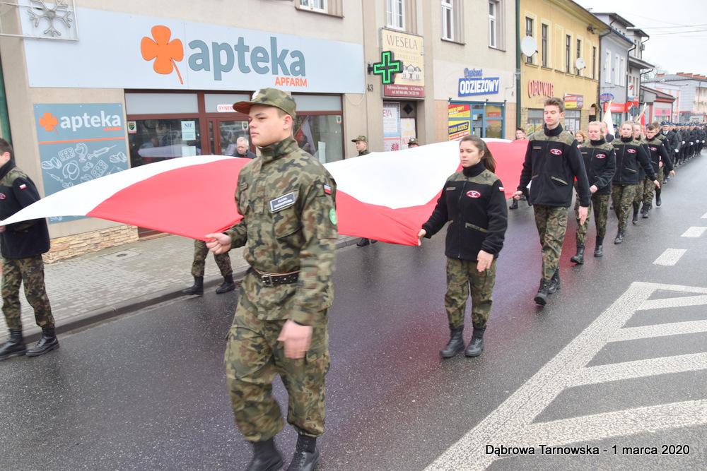 03 NDPŻW 1marca2020 9 Udział Gminy Dąbrowa Tarnowska w Powiatowych Obchodach Dnia Pamięci Żołnierzy Wyklętych