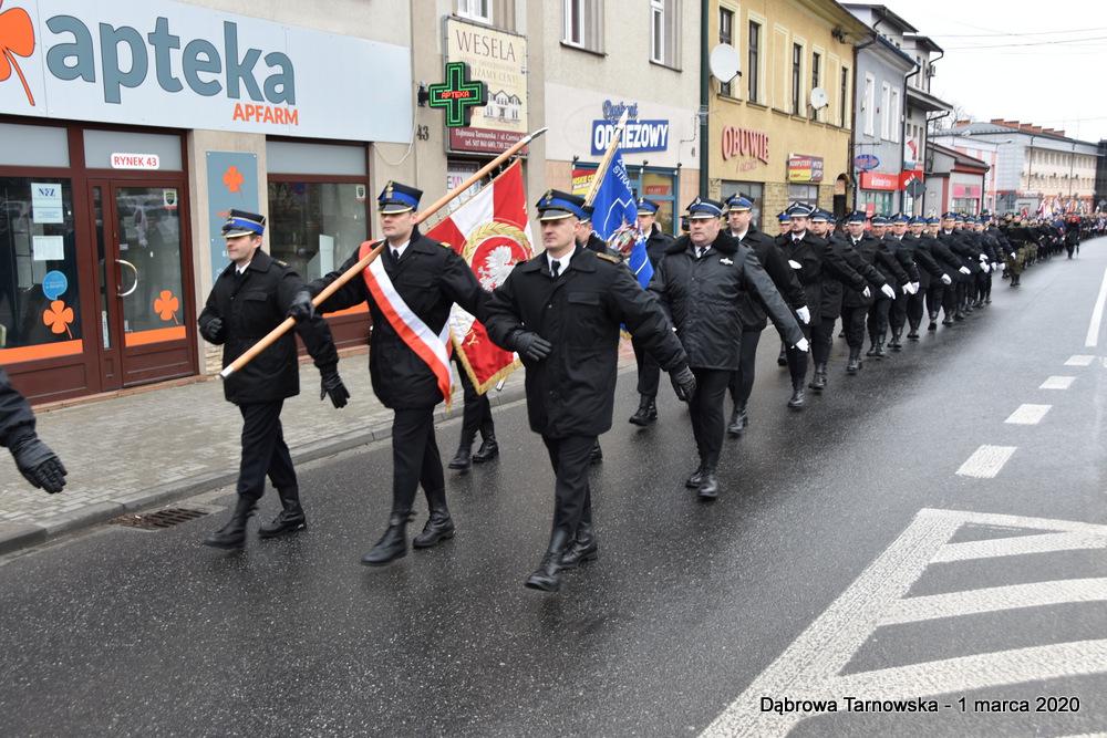 05 NDPŻW 1marca2020 12 Udział Gminy Dąbrowa Tarnowska w Powiatowych Obchodach Dnia Pamięci Żołnierzy Wyklętych